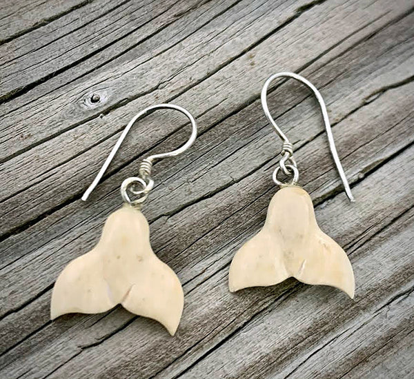 Mammoth Ivory Whaletail Earrings