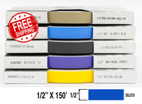 "1/2"" x 150' Half Inch Roll of Solid Premium Accent Stripe in many colors"