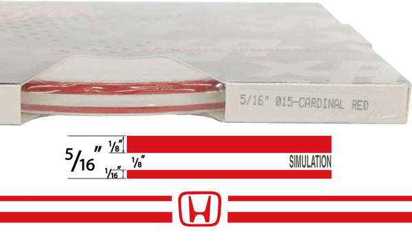 "Large Honda Stripe Kit w/ 5/16"" X150' roll - 6 Honda logos avail in many colors"