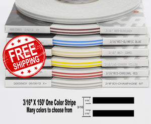 "3/16"" x 150' Roll of thin Auto Accent Pinstripe stripe in many colors 316"