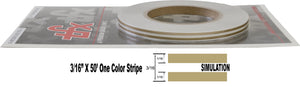 "3/16"" x 50' Roll of thin Accent Pinstripe stripe auto truck RV"