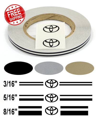 Stripe Kits for Toyota avail in 3 colors and 3 stripe configurations