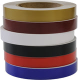 "1/2"" 3mil Solid Decor Accent Stripe Car Truck Boat RV half inch in 6 Colors"
