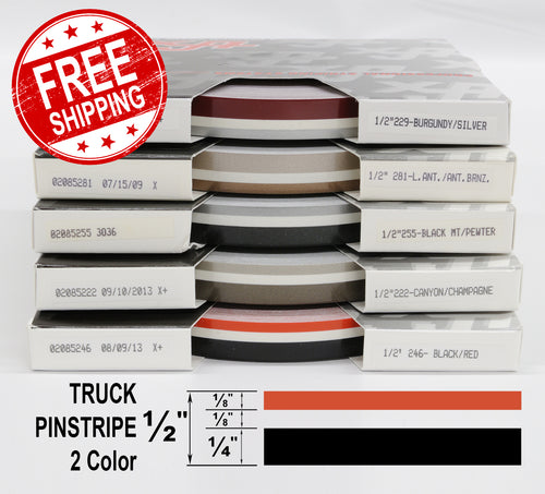Half Inch Wide 2 Color Truck PinStripe 1/2