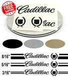 Stripe Kits for Cadillac with lettering avail in 3 colors and 3 stripe configurations