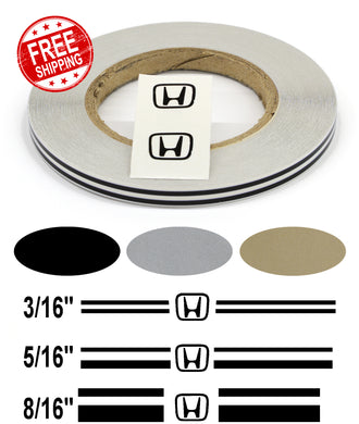 Stripe Kits for Honda avail in 3 colors and 3 stripe configurations