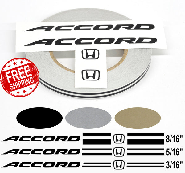 Stripe Kits for Honda Accord avail in 3 colors and 3 stripe configurations