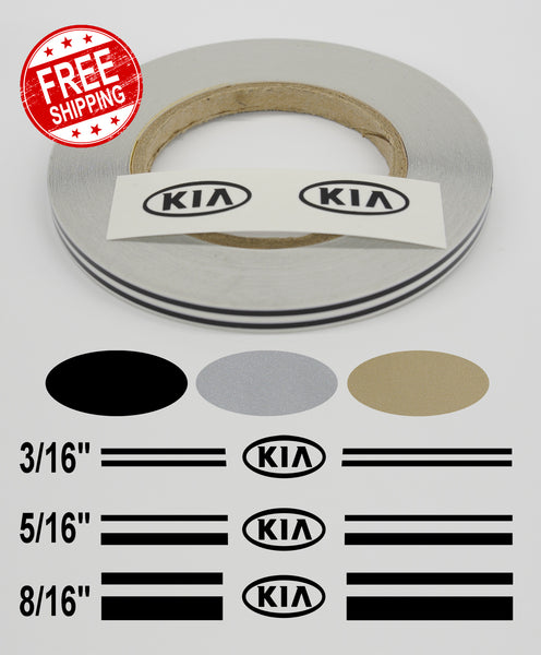 Stripe Kits for KIA's avail in 3 colors and 3 stripe configurations