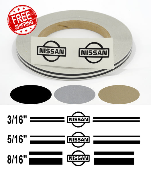 Stripe Kits for Nissan avail in 3 colors and 3 stripe configurations