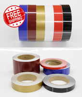 "3/4"" x 50' 3mil Solid Decor Accent Stripe Car Truck Boat RV avail in 6 Colors"