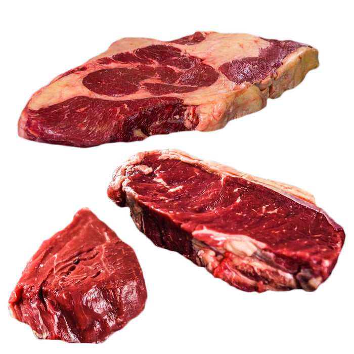 Grass Fed Premium Steak Package - 7lbs