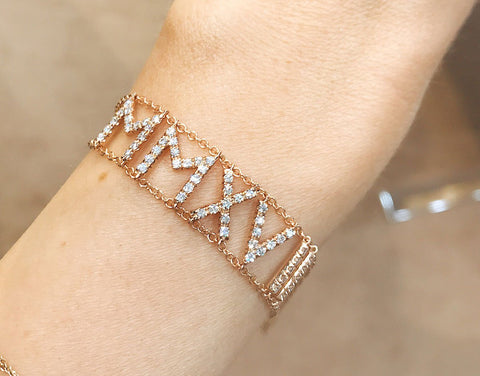 Diamond Name Armband (double)
