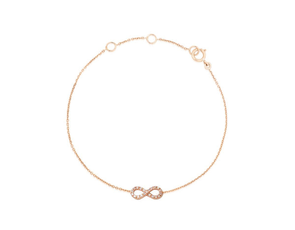 Petit Diamant Infinity - Weissgold, Gelbgold, Roségold <br>funkelnde Diamanten - Giselle Jewelry CH - 1