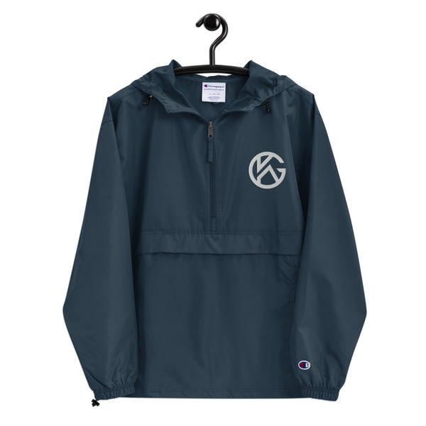GK Monogram Embroidered Packable Jacket