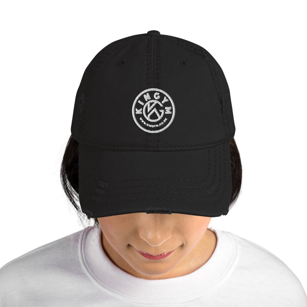 KG Monogram Women Distressed Dad Hat