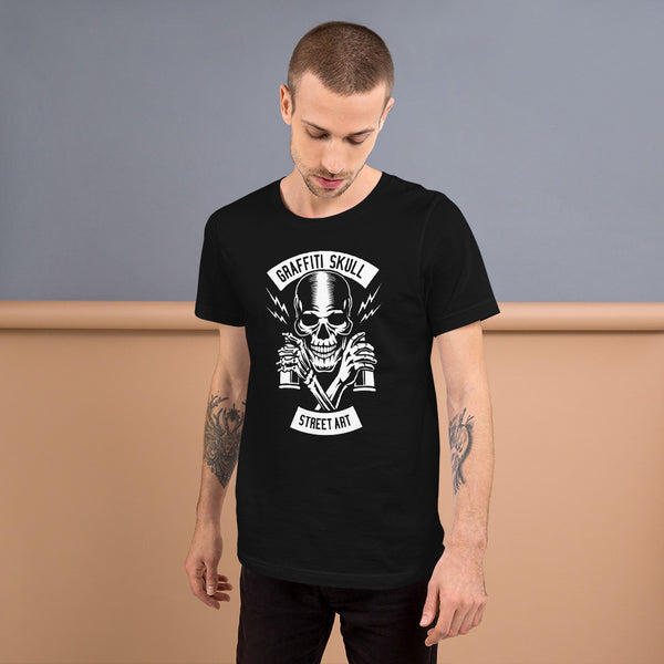 Skull Street Art Short-Sleeve Men T-Shirt