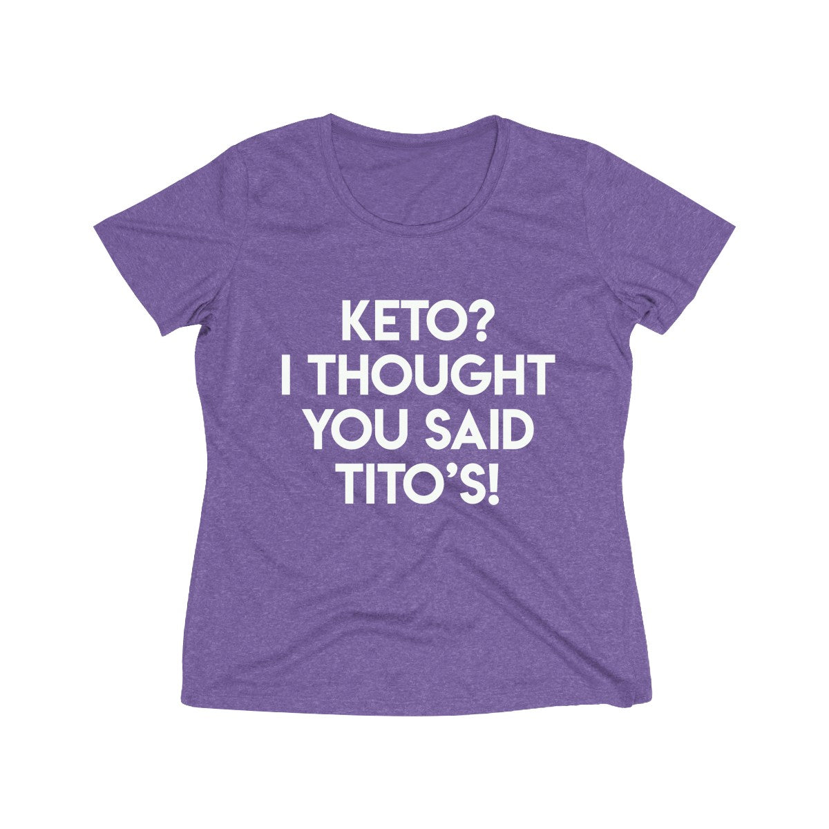 KETO & Tito's - Women's Heather Wicking Tee - Sport Tek
