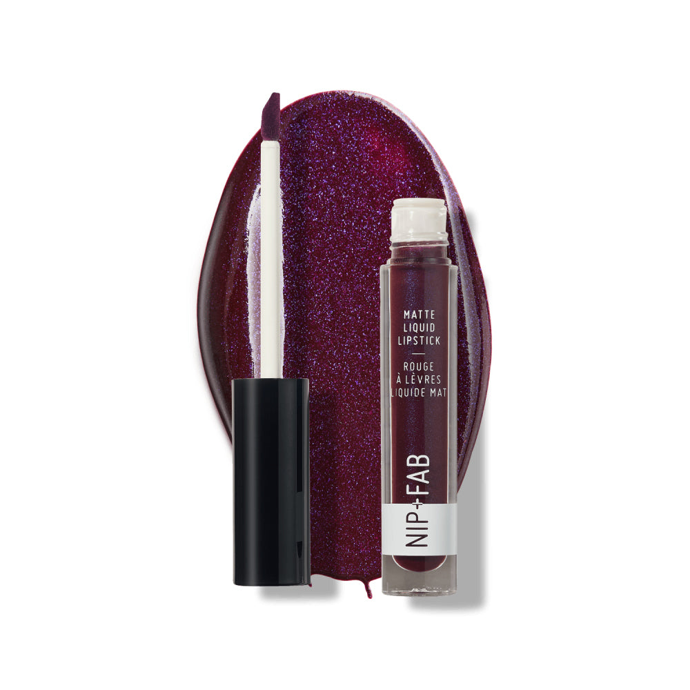 MATTE LIQUID LIPSTICK BLACK GRAPE - Nipandfab.gr