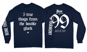 "5 True Thugs ""Navy"" Long Sleeve"