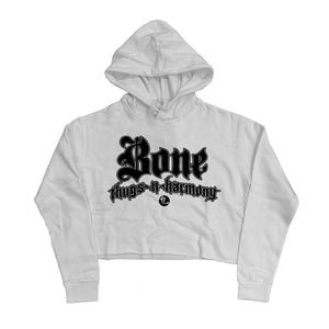 "Bone Thugs-N-Harmony ""White"" Crop Top Hoodie"