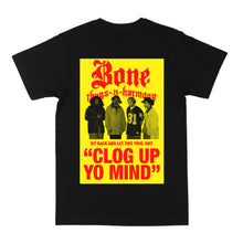 "Load image into Gallery viewer, Bone Thugs-N-Harmony Yellow Clog Up ""Black"" Tee"