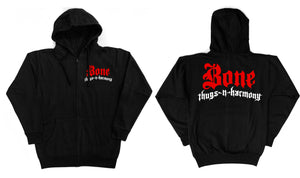 "Bone Thugs-N-Harmony Greatest Hits ""Black"" Zip Up Front Back"