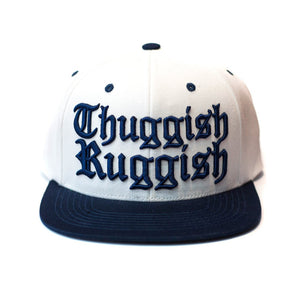"Thuggish Ruggish ""White/Navy"" Snapback"