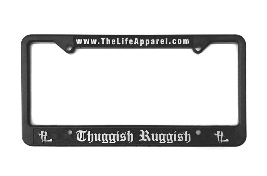 Thuggish Ruggish License Plate Cover