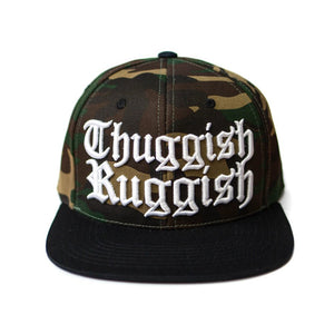 "Thuggish Ruggish ""Camo/Black"" Snapback"