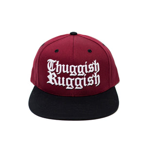 "Thuggish Ruggish ""Burgundy/Black"" Snapback"