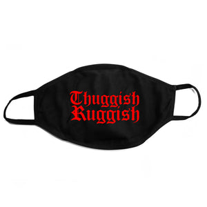 "Thuggish Ruggish Red Logo ""Black"" Face Mask"