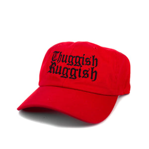 "Thuggish Ruggish ""Red/Black Logo"" Dad Hat"