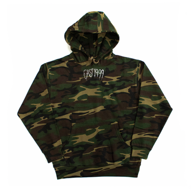 Bone Thugs-N-Harmony EAST 1999 Embroidered Camo Hoodie