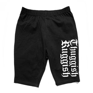 "Thuggish Ruggish ""Black"" Women Biker Shorts"