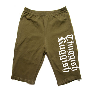 "Thuggish Ruggish ""Olive"" Women Biker Shorts"