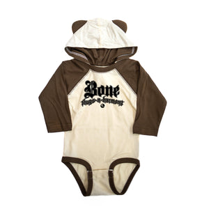 "Premium Onesie Bone Thugs-N-Harmony Logo ""Brown/Ears"""