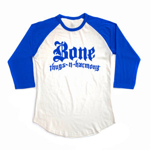 "Bone Thugs-N-Harmony Raglan ""Royal Blue/White"" Shirts"