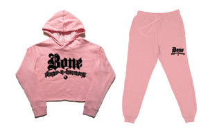"Bone Thugs-N-Harmony ""Pink"" Crop Top Sweat Suit"