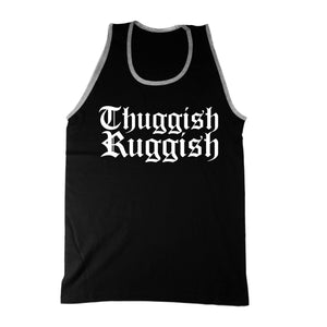 "Thuggish Ruggish ""Black/Grey Trim"" Tank Top"