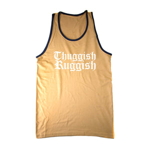 "Thuggish Ruggish ""Gold/Blue Trim"" Tank Top"