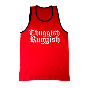 "Thuggish Ruggish ""Red/Navy Trim"" Tank Top"