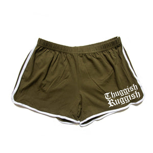 "Thuggish Ruggish ""Olive"" Women Jogging Shorts"