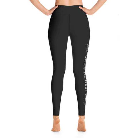 Self Care All Black Yoga Leggings
