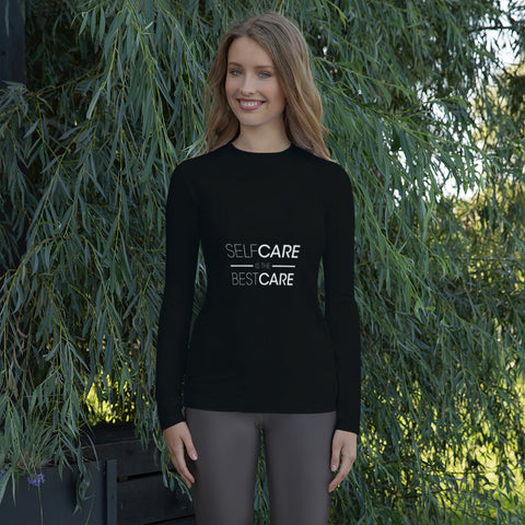 Self-Care All Black Women's Long Sleeved Shirt