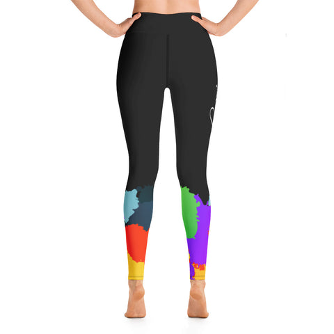 Bojoul Paint Splashed Leggings