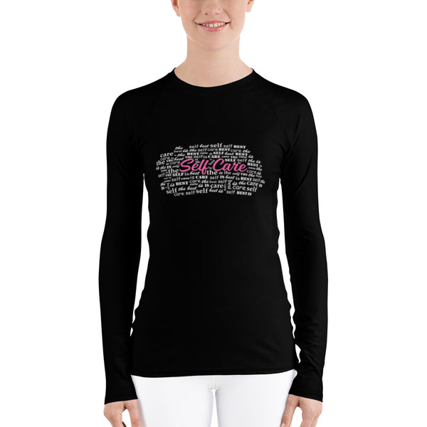 Women's Self Care Word Cloud Long Sleeve Shirt