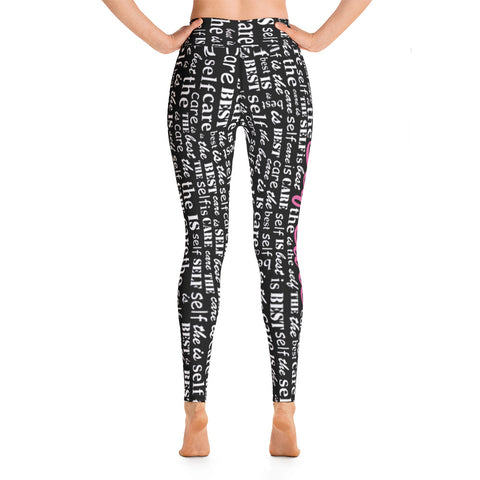 Self Care Is The Best Care Word Cloud Leggings
