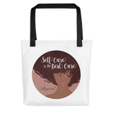 Self-Care Mocha Tote Bag