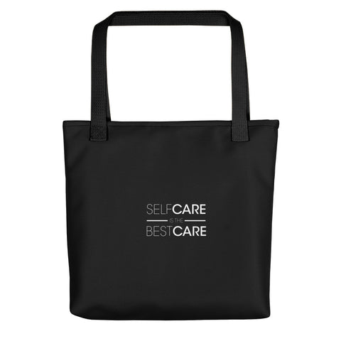 Black Self-Care Tote Bag