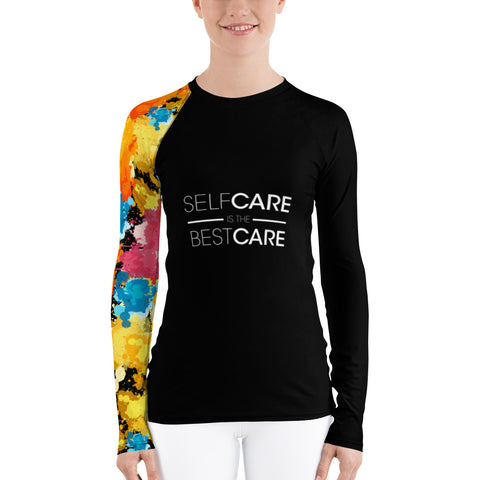 Self Care Women's One Arm Paint Splashed Long Sleeved T-Shirt